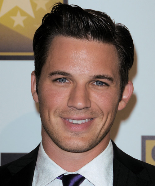 Matt Lanter Short Straight Formal    Hairstyle   - Dark Brunette Hair Color