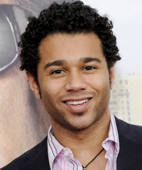 Corbin Bleu Short Curly Casual    Hairstyle   - Black  Hair Color