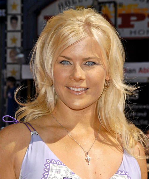 Alison Sweeney Long Straight Formal   Hairstyle