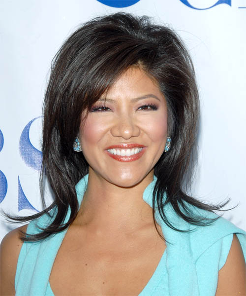 Julie Chen Long Straight Formal   Hairstyle