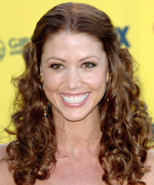Shannon Elizabeth Half Up Long Curly Formal  Half Up Hairstyle