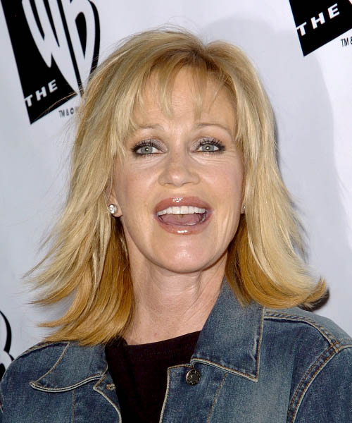 Melanie Griffith Medium Straight Formal   Hairstyle