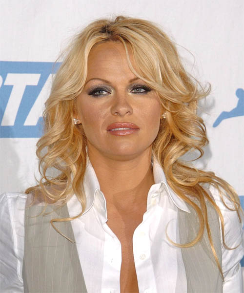 Pamela Anderson Long Wavy Formal   Hairstyle