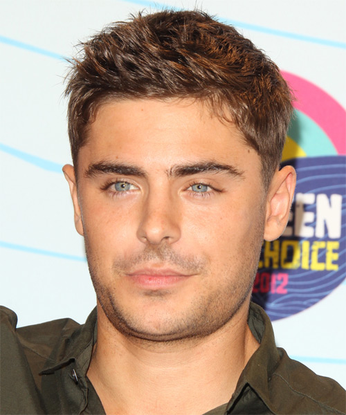 Zac Efron Short Straight Casual    Hairstyle   - Caramel Hair Color
