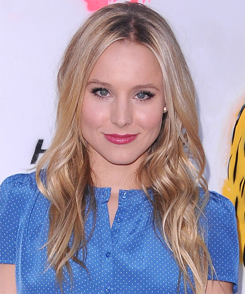 Kristen Bell Long Straight Casual   Hairstyle   - Light Blonde (Champagne)
