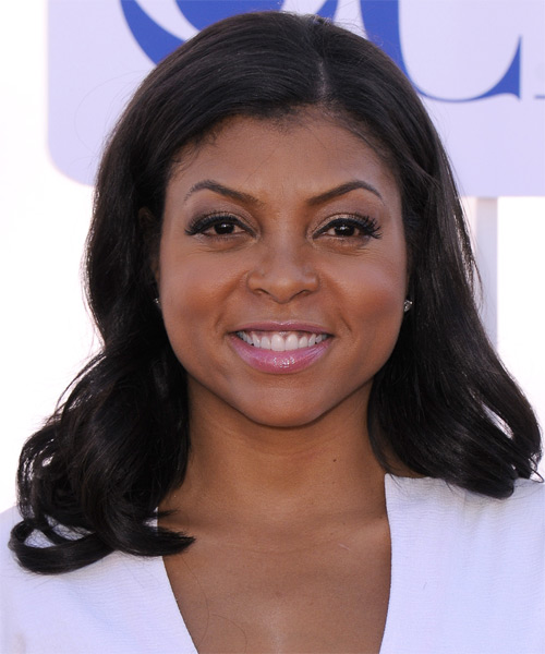 Taraji P.Henson Medium Straight Casual   Hairstyle   - Black