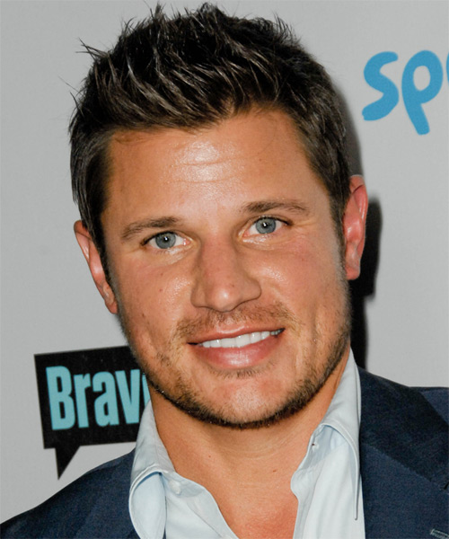 Nick Lachey Short Straight Casual   Hairstyle   - Dark Brunette