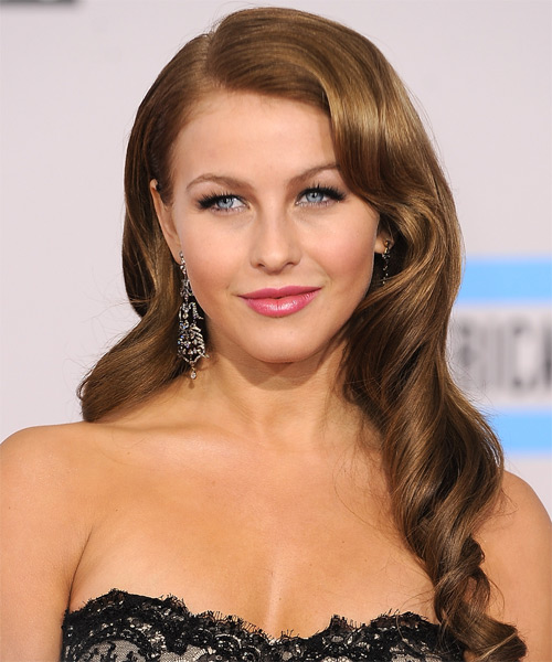 Julianne Hough Long Wavy    Chocolate Brunette   Hairstyle