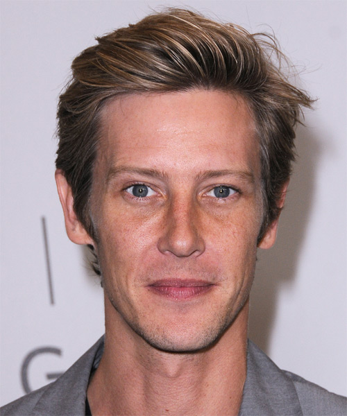 Gabriel Mann Short Straight Casual    Hairstyle   - Dark Blonde Hair Color with Light Blonde Highlights