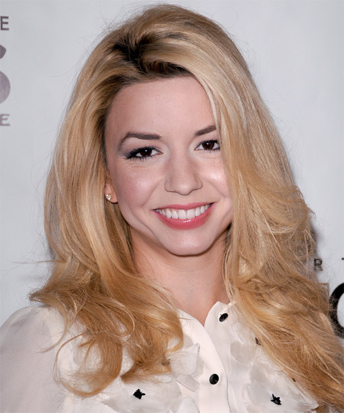 Masiela Lusha Long Straight Casual    Hairstyle   - Light Champagne Blonde Hair Color
