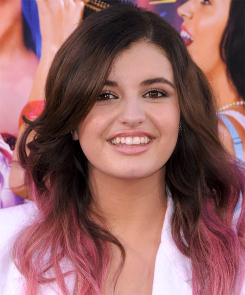Rebecca Black  Long Straight Casual   Hairstyle with Side Swept Bangs  - Medium Brunette