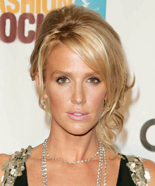 Poppy Montgomery  Medium Curly Formal   Updo Hairstyle