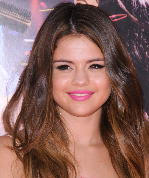 Selena Gomez Long Straight Casual   Hairstyle   - Medium Brunette (Caramel)