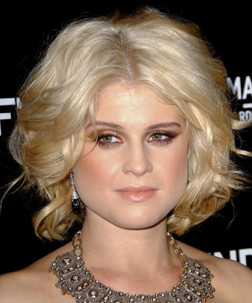 Kelly Osbourne Short Wavy Formal   Hairstyle   - Black (Golden)