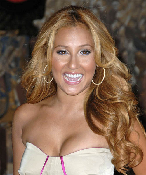 Adrienne Bailon Long Wavy Formal Hairstyle