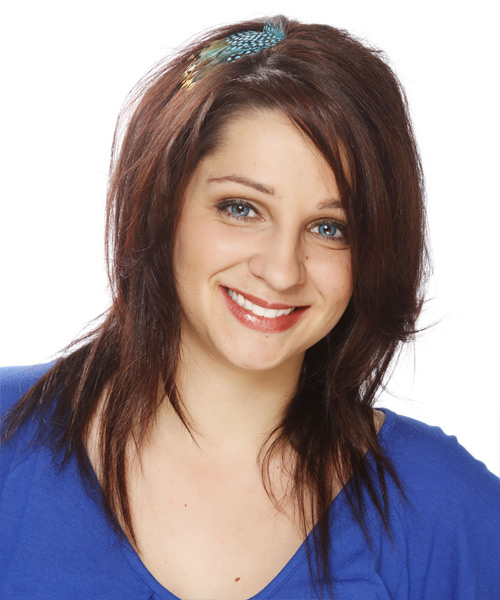 Long Straight Casual   Hairstyle   - Medium Brunette (Auburn)