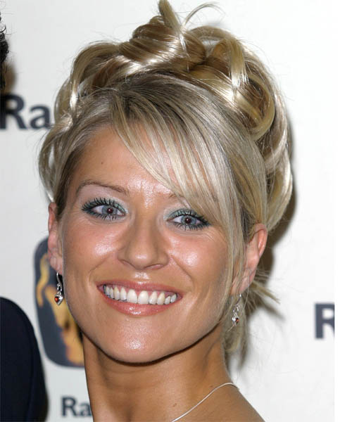 bob hair style with bangs zoe lucker curly formal updo hairstyle 5092