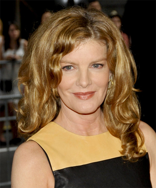 Rene Russo Long Wavy Casual    Hairstyle   - Dark Golden Blonde Hair Color