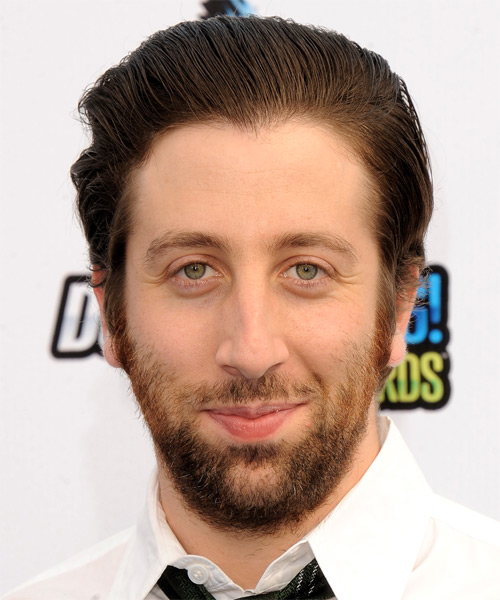 Simon Helberg Short Straight Formal   Hairstyle   - Medium Brunette