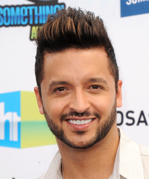 Jai Rodriguez Short Straight Casual  Emo  Hairstyle   - Black  Hair Color with Dark Blonde Highlights