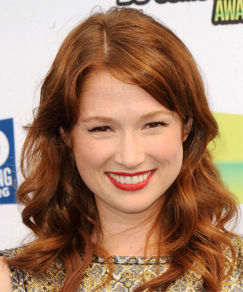 Ellie Kemper Long Wavy Casual   Hairstyle   - Medium Brunette (Copper)