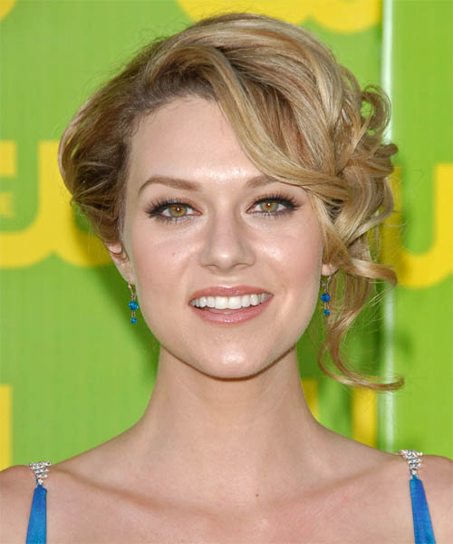 Hilarie Burton Updo Medium Curly Formal  Updo Hairstyle