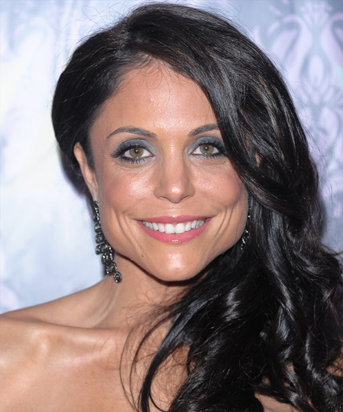 Bethenny Frankel Long Wavy Casual    Hairstyle   - Black  Hair Color