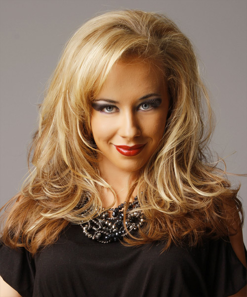 Long Straight   Dark Golden Blonde and  Blonde Two-Tone   Hairstyle   with Light Blonde Highlights