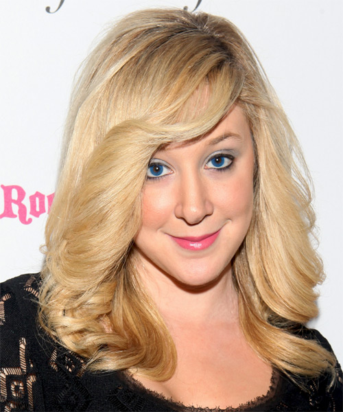 Amy Poliakoff Long Wavy Formal   Hairstyle   - Light Blonde