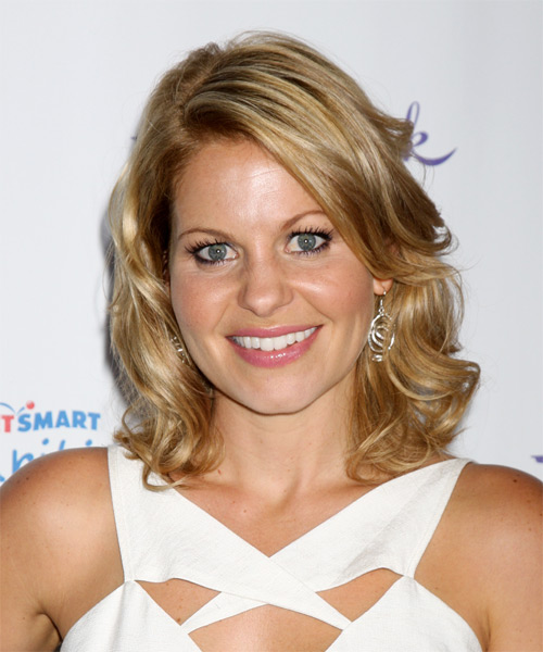 Candace Cameron Bure Medium Wavy Casual   Hairstyle   - Dark Blonde (Golden)
