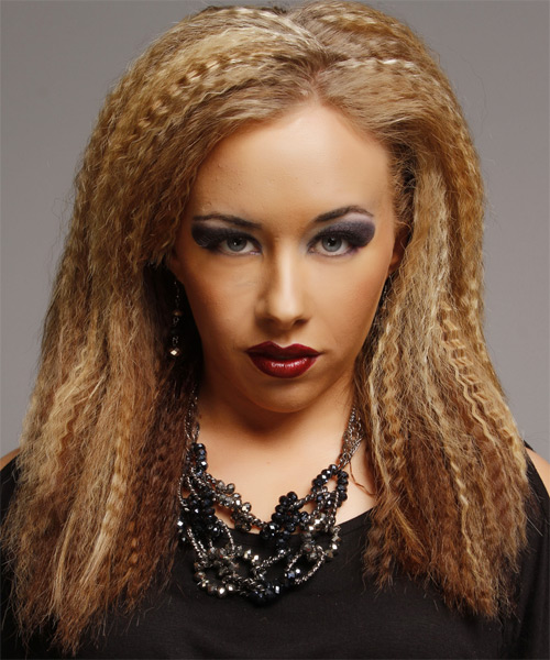 how to style crimped hair wavy alternative hairstyle caramel hair 8249