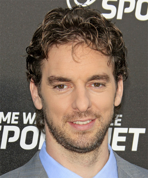 Pau Gasol Short Wavy Casual   Hairstyle   - Dark Brunette