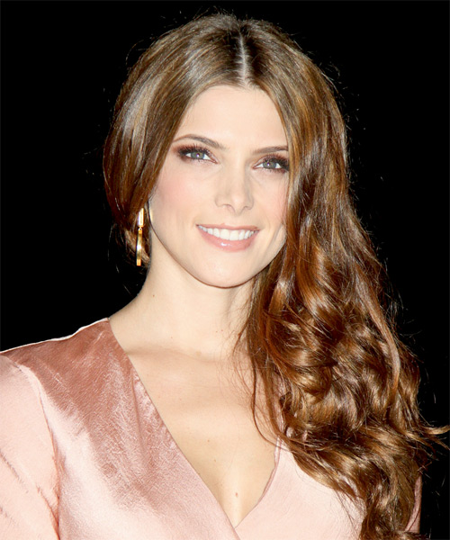 Ashley Greene Long Wavy Formal    Hairstyle   - Medium Auburn Brunette Hair Color
