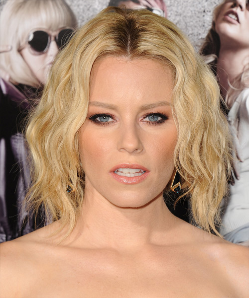 Elizabeth Banks Short Wavy    Golden Blonde   Hairstyle   with Light Blonde Highlights