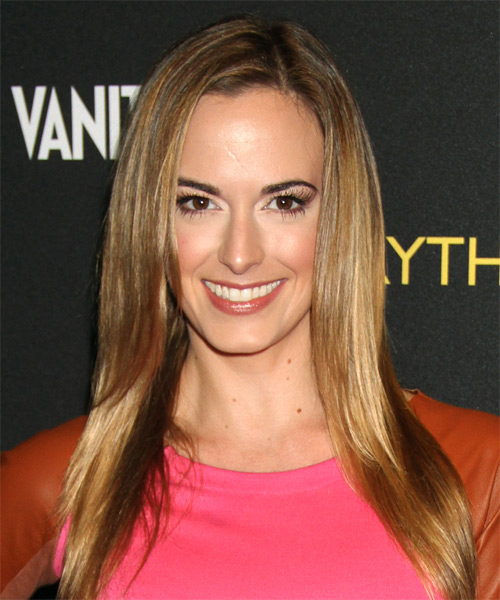 Jena Sims Long Straight Formal   Hairstyle   - Dark Blonde (Golden)