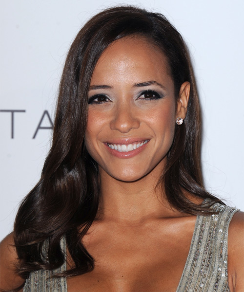 Dania Ramirez Long Straight Formal   Hairstyle   - Dark Brunette (Mocha)