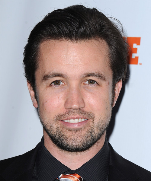 Rob McElhenney Short Straight Formal    Hairstyle   - Dark Brunette Hair Color