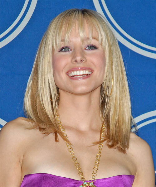 Kristen Bell Long Straight Formal    Hairstyle