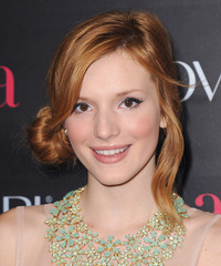 Bella Thorne  Long Straight Casual   Updo Hairstyle   -  Copper Red Hair Color