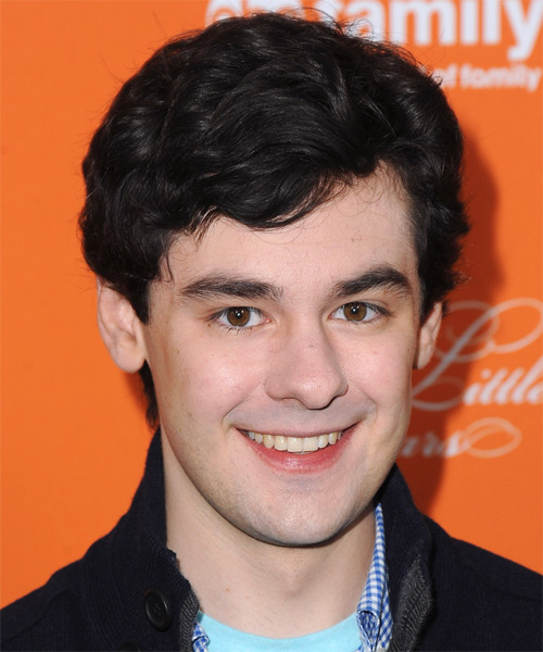 Brendan Robinson Short Wavy Casual   Hairstyle   - Black