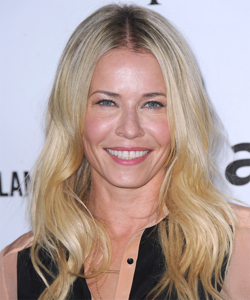 Chelsea Handler Long Straight Casual    Hairstyle   -  Golden Blonde Hair Color with Light Blonde Highlights