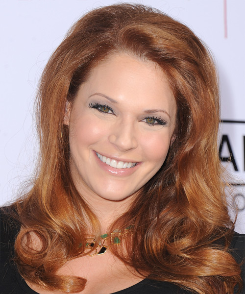 Amanda Righetti Long Straight Formal   Hairstyle   - Medium Red (Copper)