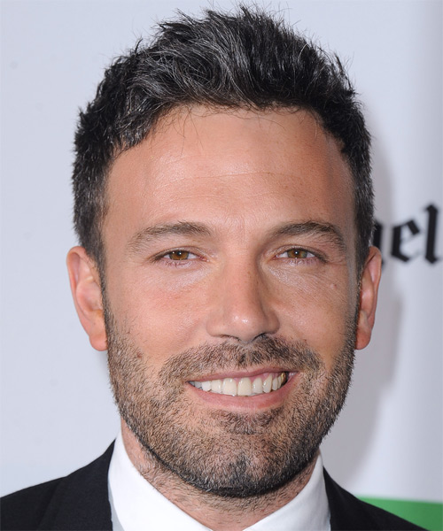Ben Affleck Short Straight Casual    Hairstyle   - Black Grey  Hair Color