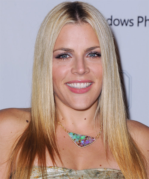 Busy Philipps Long Straight Formal   Hairstyle   - Light Blonde (Champagne)