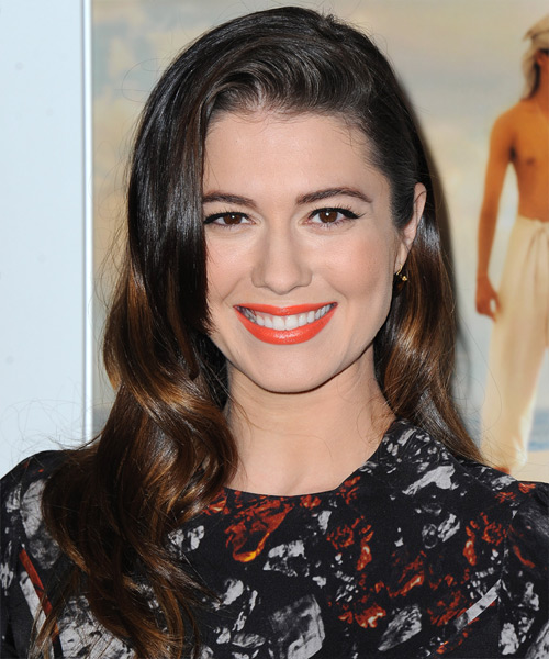 Mary Elizabeth Winstead Long Wavy Formal Wedding  Hairstyle   - Medium Brunette