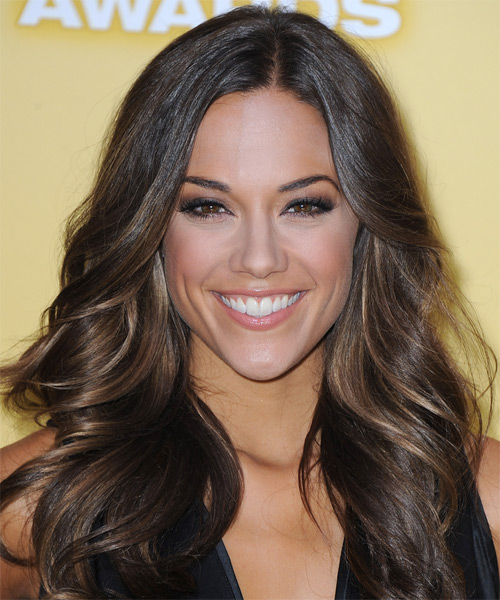 Jana Kramer Long Wavy Formal    Hairstyle   -  Chocolate Blonde Hair Color with  Blonde Highlights