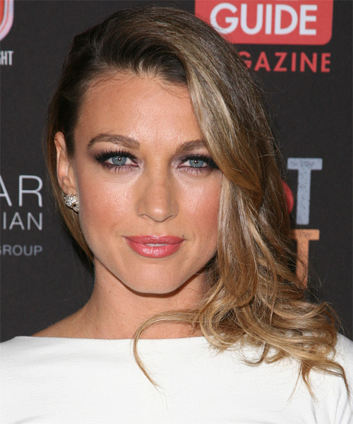 Natalie Zea Long Straight Formal   Hairstyle   - Dark Blonde (Ash)