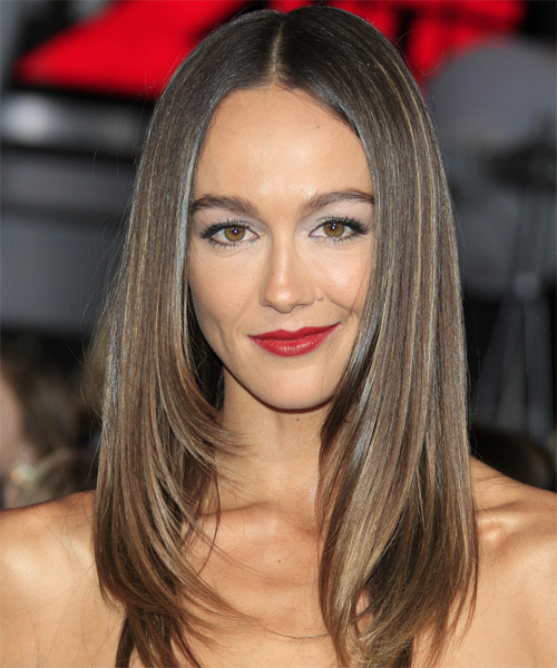 Sharni Vinson Long Straight Formal   Hairstyle   - Medium Brunette