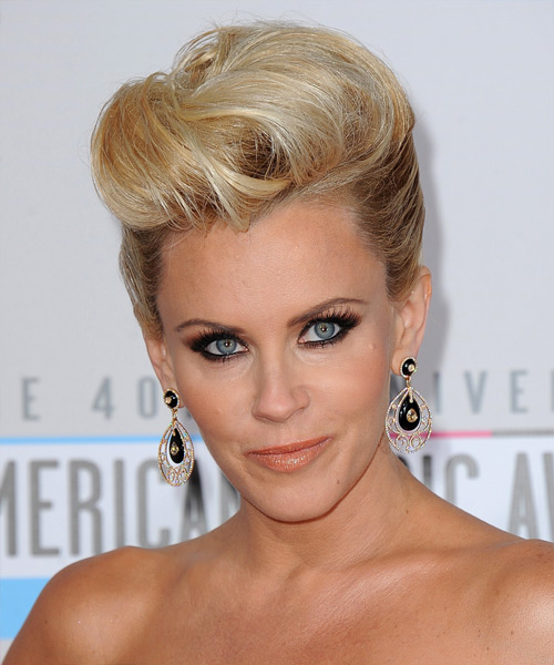 Jenny McCarthy  Long Straight Formal   Updo Hairstyle   -  Golden Blonde Hair Color with Light Blonde Highlights
