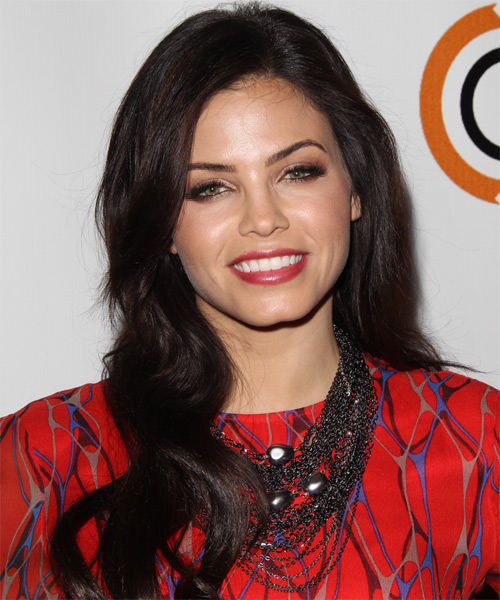 Jenna Dewan Long Wavy Casual Hairstyle Dark Brunette Mocha